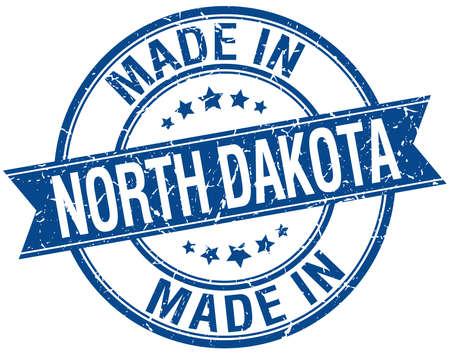 north dakota: made in North Dakota blue round vintage stamp