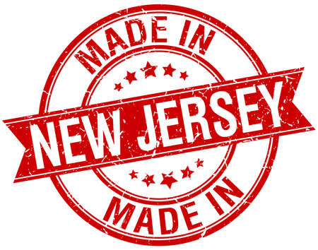 new jersey: made in New Jersey red round vintage stamp