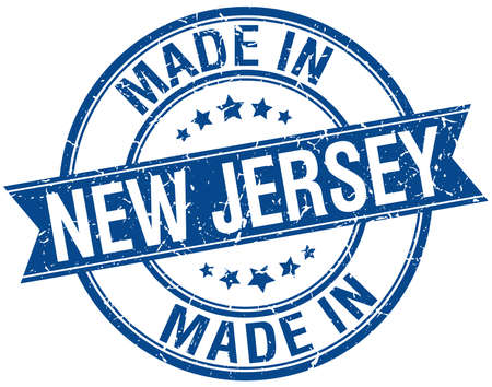 new jersey: made in New Jersey blue round vintage stamp