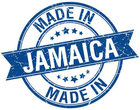 made in Jamaica blue round vintage stamp Vector