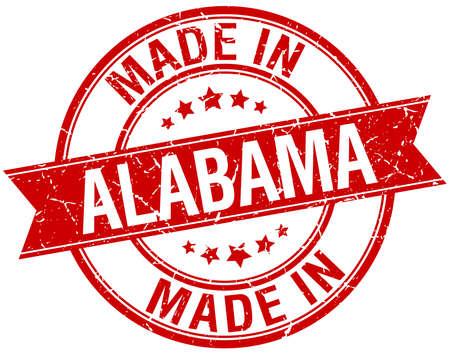 alabama: made in Alabama red round vintage stamp
