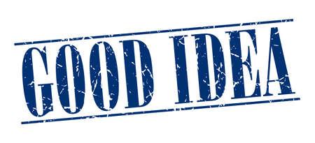 good idea: good idea blue grunge vintage stamp isolated on white background