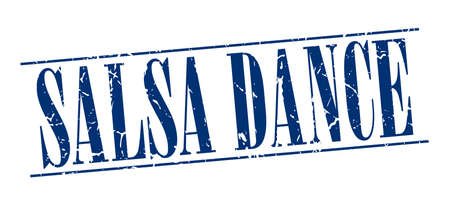 salsa dance: salsa dance blue grunge vintage stamp isolated on white background Illustration