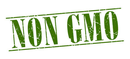 non: non gmo green grunge vintage stamp isolated on white background