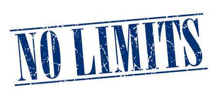 no limits: no limits blue grunge vintage stamp isolated on white background