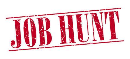 job hunt: job hunt red grunge vintage stamp isolated on white background Illustration