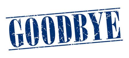 addio: addio blu grunge vintage timbro isolato su sfondo bianco