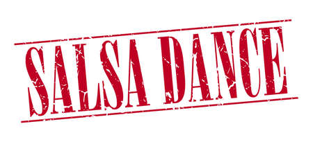 salsa dance: salsa dance red grunge vintage stamp isolated on white background