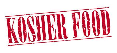 kosher: kosher food red grunge vintage stamp isolated on white background