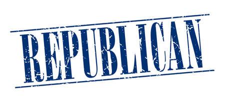 democrats: republicano sello azul del grunge de la vendimia aislado en el fondo blanco Vectores