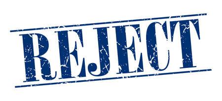 reject: reject blue grunge vintage stamp isolated on white background Illustration