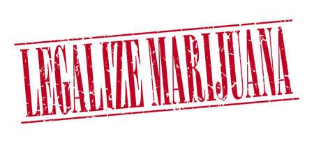 legalize: legalize marijuana red grunge vintage stamp isolated on white background