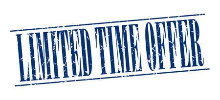 limited time: limited time offer blue grunge vintage stamp isolated on white background Illustration