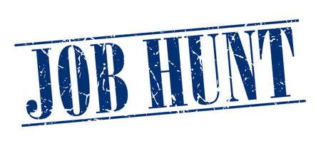job hunt: job hunt blue grunge vintage stamp isolated on white background