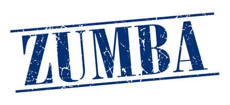 zumba: zumba azul grunge sello de la vendimia aislado en el fondo blanco Vectores