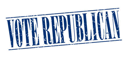vintage stamp: vote republican blue grunge vintage stamp isolated on white background