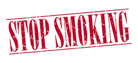 stop smoking: stop smoking red grunge vintage stamp isolated on white background