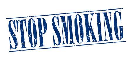 stop smoking: stop smoking blue grunge vintage stamp isolated on white background Illustration