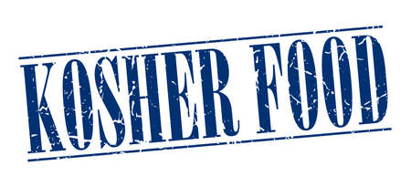 kosher: kosher food blue grunge vintage stamp isolated on white background