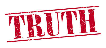 truth: truth red grunge vintage stamp isolated on white background Illustration