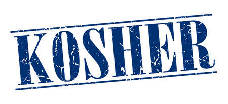 kosher: kosher blue grunge vintage stamp isolated on white background