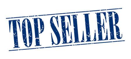 top seller: top seller blue grunge vintage stamp isolated on white background