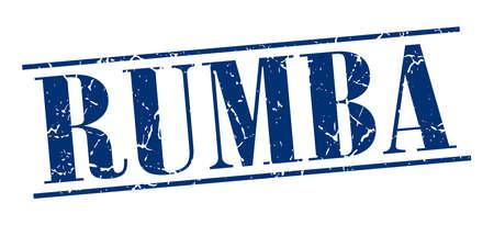 rumba: rumba blue grunge vintage stamp isolated on white background