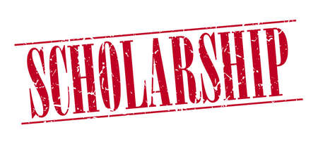 scholarship: scholarship red grunge vintage stamp isolated on white background