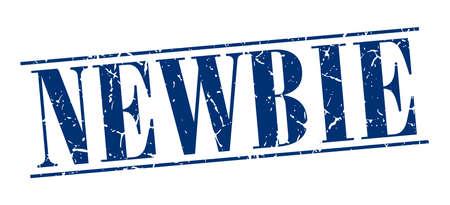 newbie: newbie blue grunge vintage stamp isolated on white background