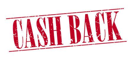 cash back: cash back red grunge vintage stamp isolated on white background Illustration