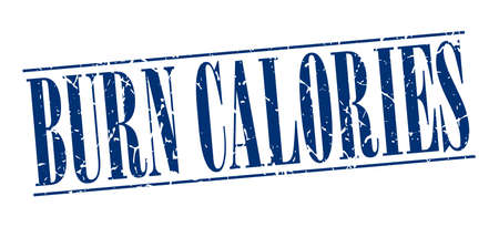 calories: burn calories blue grunge vintage stamp isolated on white background Illustration