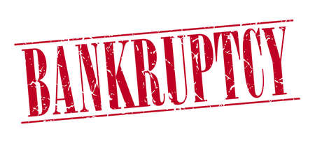 bankruptcy: bankruptcy red grunge vintage stamp isolated on white background