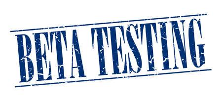 beta: beta testing blue grunge vintage stamp isolated on white background Illustration