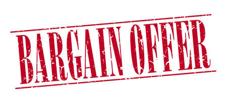 bargain: bargain offer red grunge vintage stamp isolated on white background