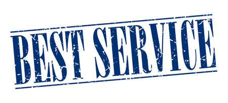 best service: best service blue grunge vintage stamp isolated on white background Illustration