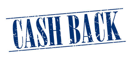 cash back: cash back blue grunge vintage stamp isolated on white background