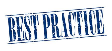 best practice: best practice blue grunge vintage stamp isolated on white background