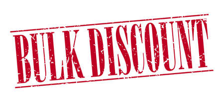 bulk: bulk discount red grunge vintage stamp isolated on white background