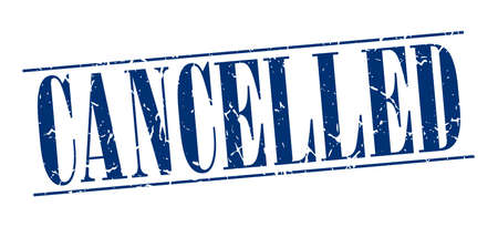 cancelled stamp: cancelled blue grunge vintage stamp isolated on white background