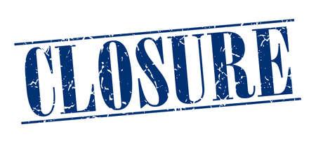 closure: closure blue grunge vintage stamp isolated on white background Illustration