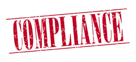compliance: compliance red grunge vintage stamp isolated on white background