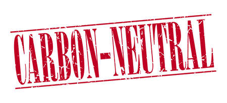 co2: carbon-neutral red grunge vintage stamp isolated on white background Illustration