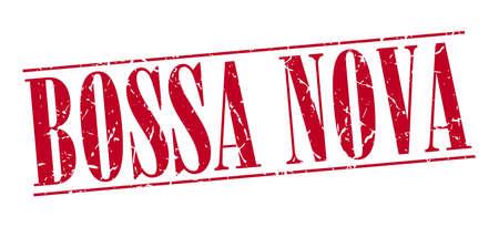 nova: bossa nova red grunge vintage stamp isolated on white background Illustration