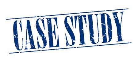 case study: case study blue grunge vintage stamp isolated on white background Illustration