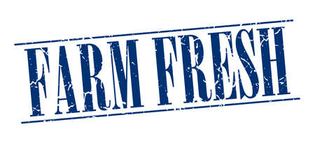farm fresh: farm fresh blue grunge vintage stamp isolated on white background