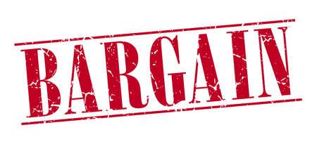 bargain: bargain red grunge vintage stamp isolated on white background