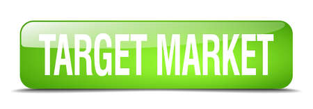 target market: target market green square 3d realistic isolated web button