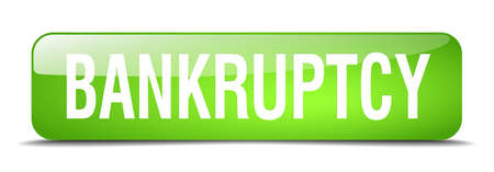 bankruptcy: bankruptcy green square 3d realistic isolated web button