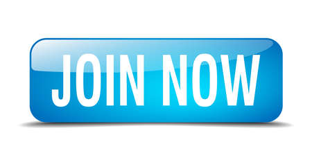join now: join now blue square 3d realistic isolated web button