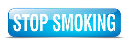 stop smoking: stop smoking blue square 3d realistic isolated web button Illustration